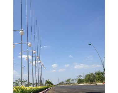 Installation of street lights in Phu My Industrial Park