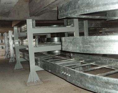 Fabrication of support and cable trays